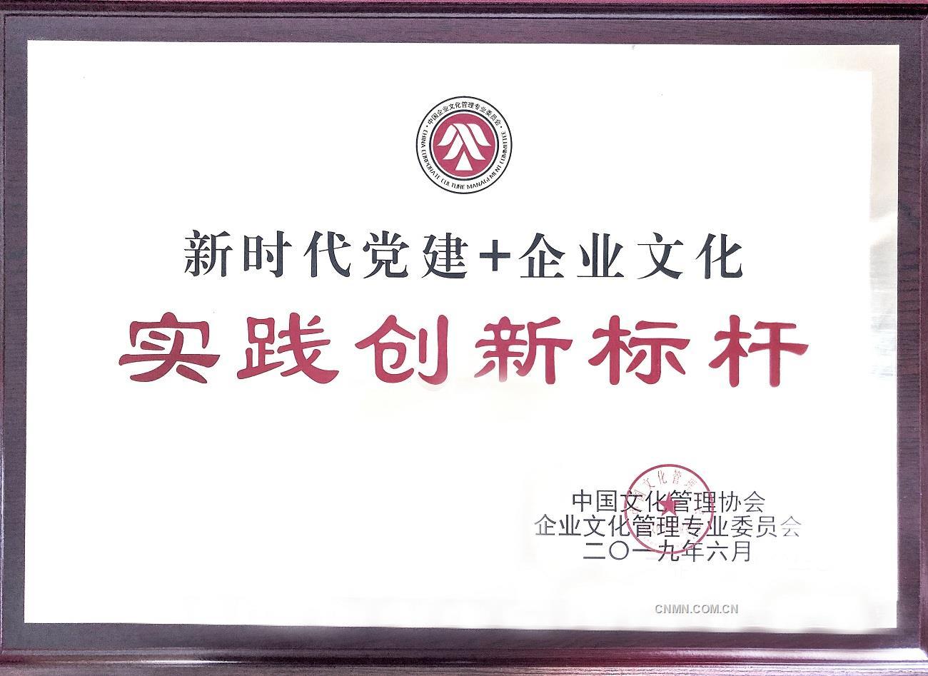 """恒邦股份荣获全国""""新时代党建+企业文化实践创新标杆""""殊荣"""
