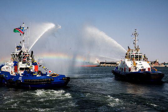 填海造陸 中國港灣助力納米比亞建設南非物流樞紐