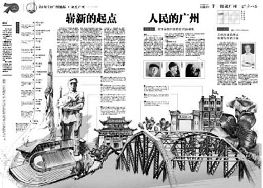 《廣州日報》從建筑中看70年光輝歲月
