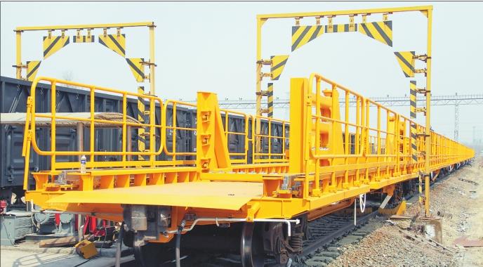 中車齊車集團研制的長鋼軌列車實現首次出口