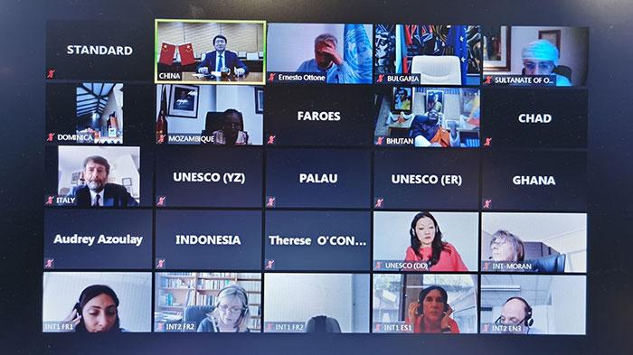 聯合國教科文組織召開首次文化部長網絡會議