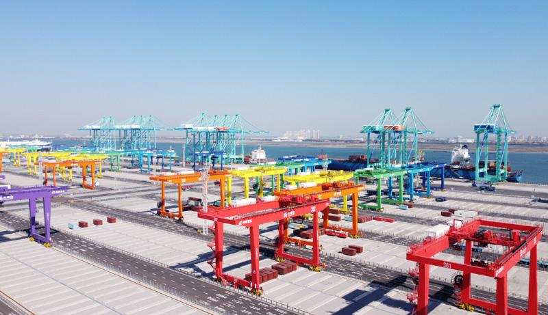 """天津港""""智慧零碳""""碼頭投產運營"""